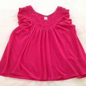 🌹NWT Free People Hot Pink Short Sleeve Top🌹